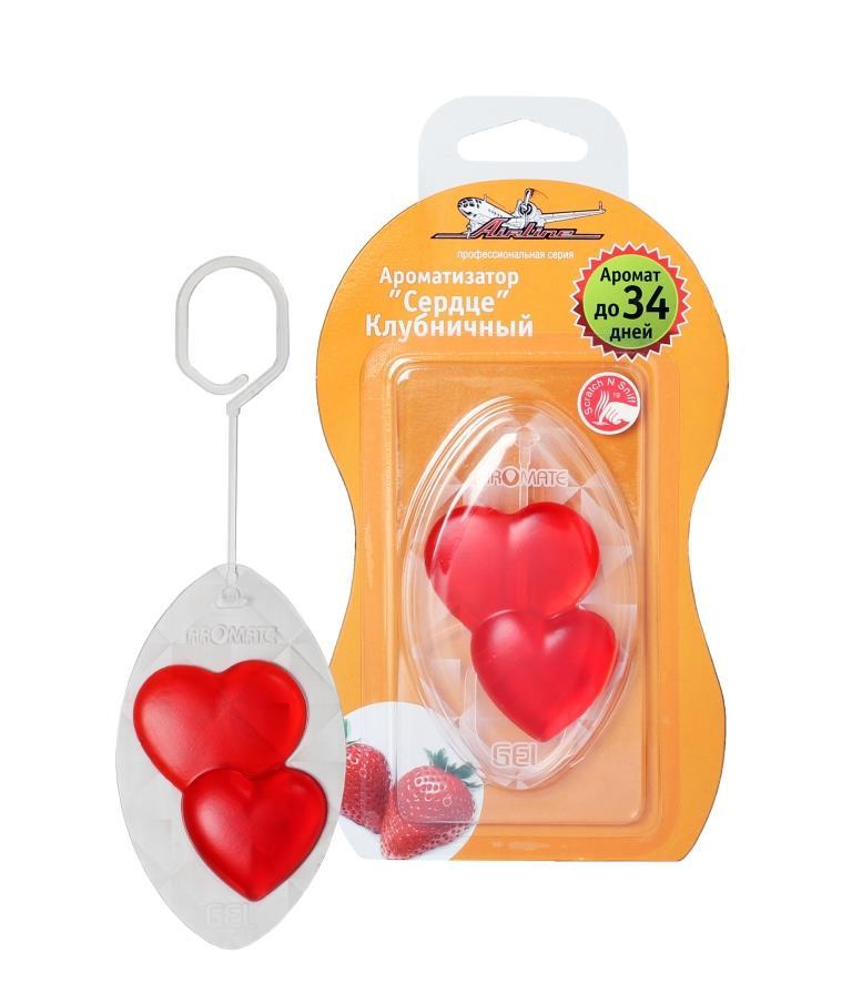 Ароматизатор Сердце клубничный AF-M02-ST