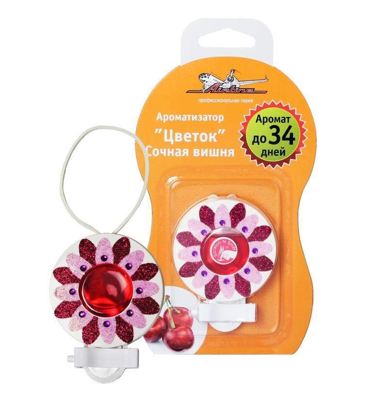 Ароматизатор на дефлектор гелевый Цветок сочная вишня AF-D02-SC