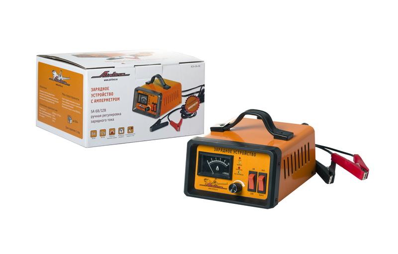 Зарядное устройство 5А 6В/12В, амперметр, ручная регулировка зарядного тока ACH-5A-06