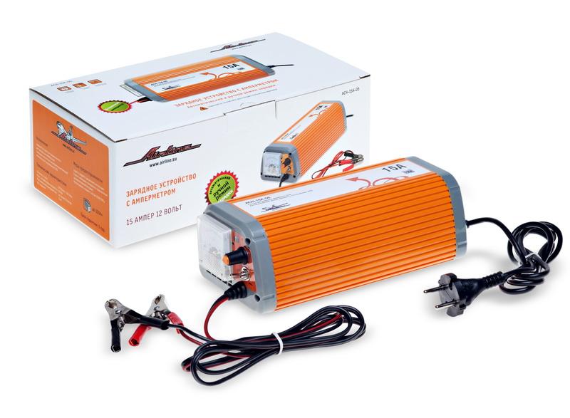 Зарядное устройство 15А 12В, амперметр, ручной и автоматический режим ACH-15A-05