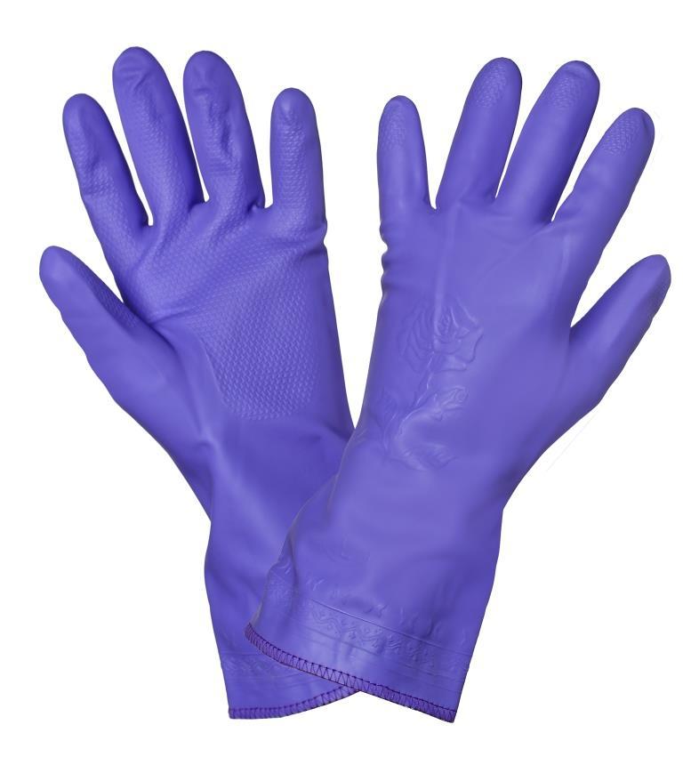 Перчатки ПВХ хозяйственные AWG-HW-11