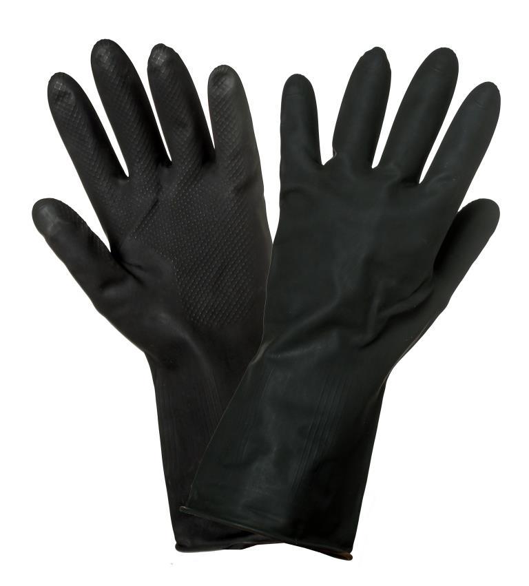 Перчатки латексные (защитные от агрессивных жидкостей) AWG-LS-10