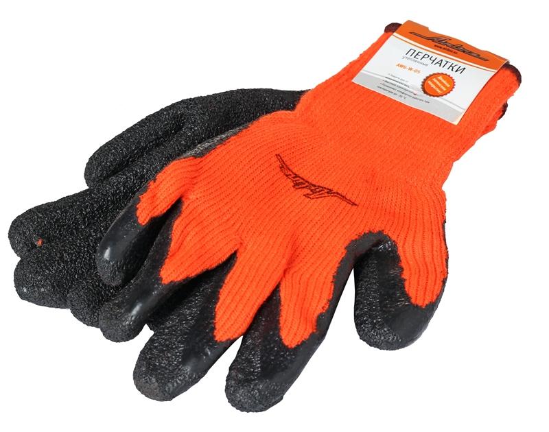 Перчатки утепленные с латексным покрытием AWG-W-05
