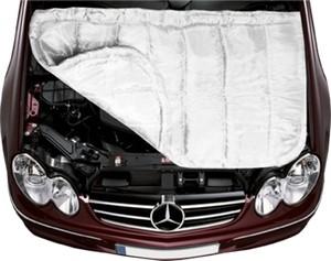 Утеплитель для двигателя, стеклоткань, цвет белый,130*90см  ACC-01