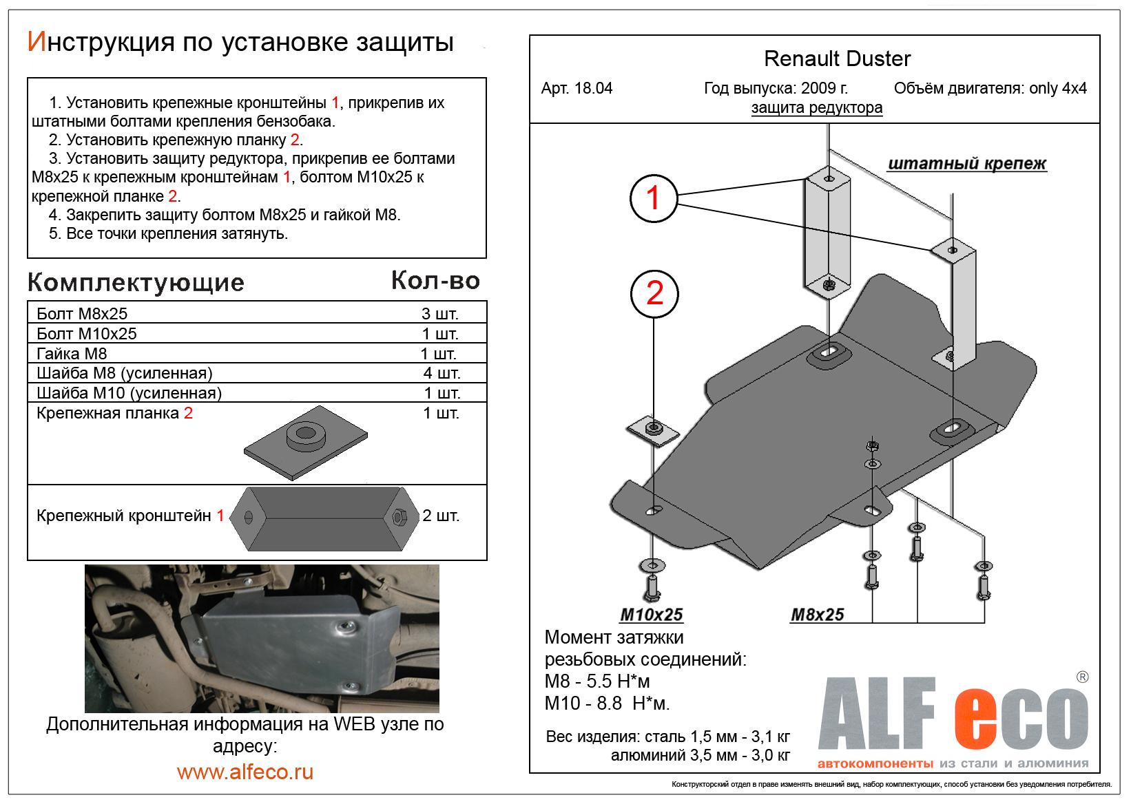 Размеры защиты бензобака на рено дастер своими руками
